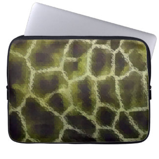 Animal Print Olive Green Laptop Sleeve