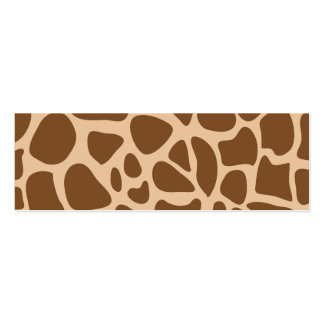 Animal Print Pack Of Skinny Business Cards