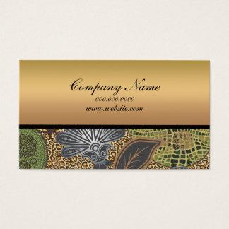 Animal Print Paisley Pattern Business Card