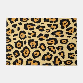 Animal print pattern doormat