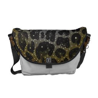 Animal Print Pattern Rickshaw Messenger Bag