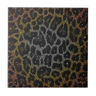 Animal Print Pattern Small Square Tile
