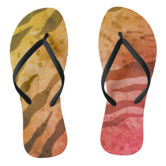 Animal Print Safari Flipflops