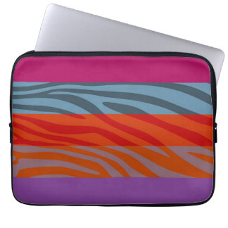 Animal Print Skin Zebra Retro Colorful Pattern 9 Computer Sleeves