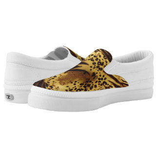 Animal Print Slip On Canvas Shoes Printed Shoes