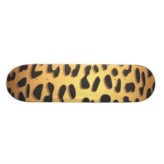 Animal Print, Spotted Cheetah - Black Yellow Skateboard Decks