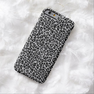 Animal Print with Silver Sparkles Barely There iPhone 6 Case