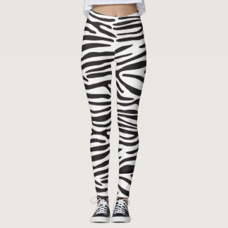 Animal Print Zebra Leggings