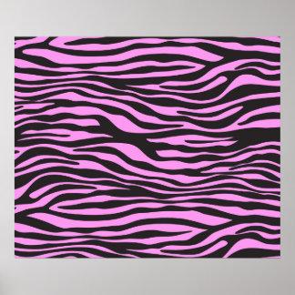 Animal Print, Zebra Stripes - Black Pink Posters