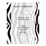 Animal Print, Zebra Stripes - Black White 21.5 Cm X 28 Cm Flyer