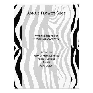 Animal Print, Zebra Stripes - Black White Flyer