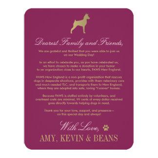 Animal Rescue Donation Card | Dog Design