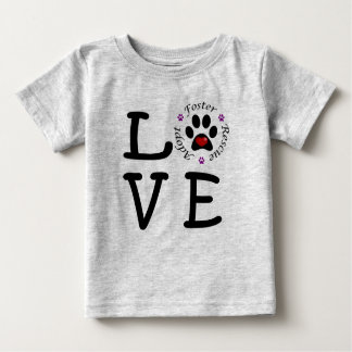 Animal Rescue Love Baby Fine Jersey T-Shirt