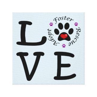 Animal Rescue Love Canvas Print