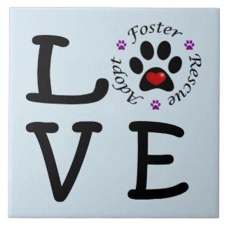 Animal Rescue Love Ceramic Photo Tile