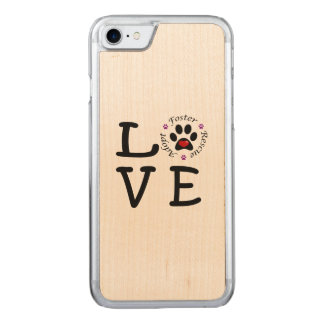 Animal Rescue Love iPhone 7 Maple Wood Case