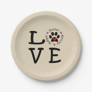 Animal Rescue Love Paper Plates