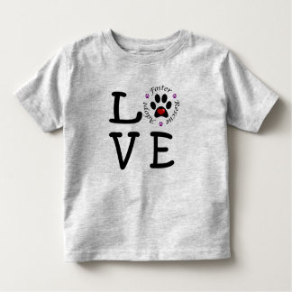 Animal Rescue Love Toddler Fine Jersey T-Shirt