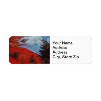 "Animal Return Address Label Cardinal ""red bird"""