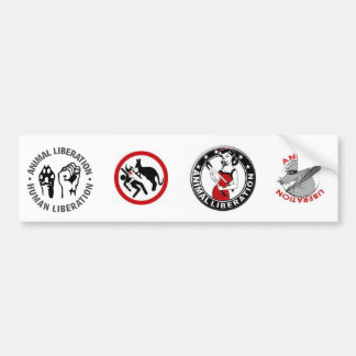 Animal Rights (4 in 1) Bumper Sticker