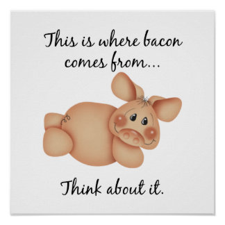 Animal Rights Pig Gift Posters