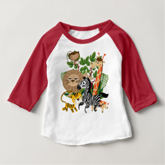Animal Safari Baby Raglan T-shirt