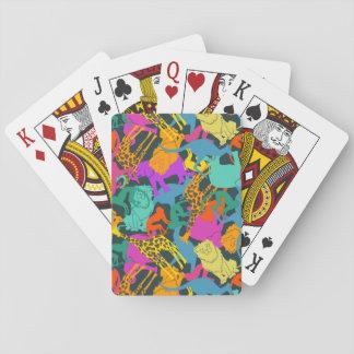 Animal Silhouettes Pattern Poker Deck