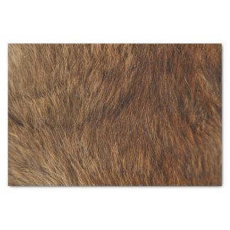 Animal Skin Brown Abstract Bear Minimal Small Tissue Paper