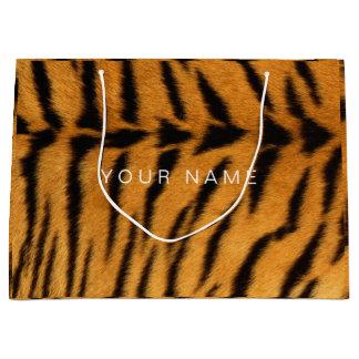 Animal Skin Brown Black Safari Tigre Minimal VIP Large Gift Bag