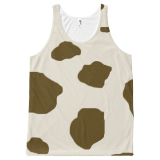 Animal skin Brown Cow Spots All-Over Print Tank Top