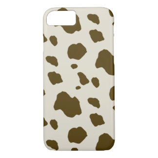 Animal Skin Brown Cow Spots iPhone 7 Case