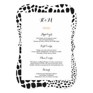 Animal Skin in Black and White 13 Cm X 18 Cm Invitation Card