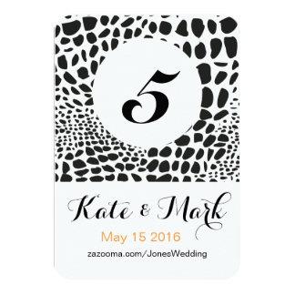 Animal Skin in Black and White 9 Cm X 13 Cm Invitation Card