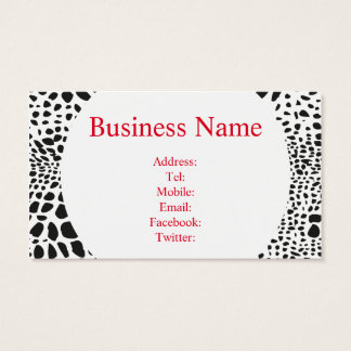 Animal Skin in Black and White Business Card