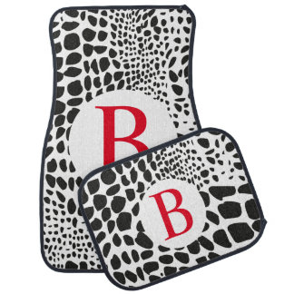 Animal Skin in Black and White Car Mat