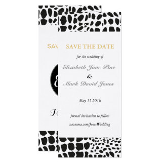 Animal Skin in Black and White Card