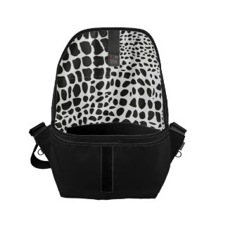 Animal Skin in Black and White Courier Bags