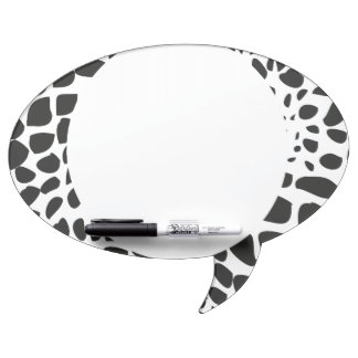 Animal Skin in Black and White Dry Erase Board