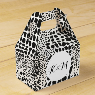 Animal Skin in Black and White Favour Box