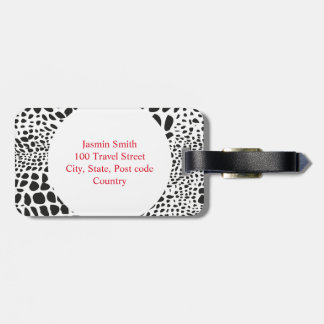 Animal Skin in Black and White Luggage Tag