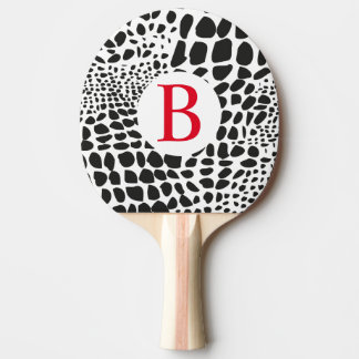 Animal Skin in Black and White Ping Pong Paddle