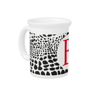 Animal Skin in Black and White Pitcher