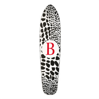 Animal Skin in Black and White Skate Board Decks