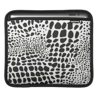 Animal Skin in Black and White Sleeves For iPads