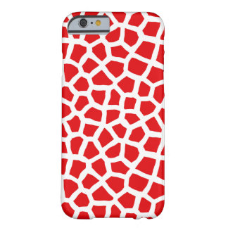 Animal Skin Print Phone Case - Red and White