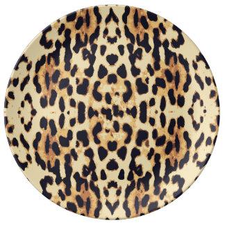 Animal skin print texture plate