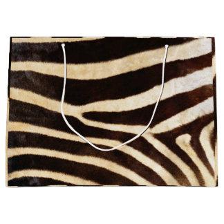 Animal Skin Zebra Safari Brown Whit Black Large Gift Bag