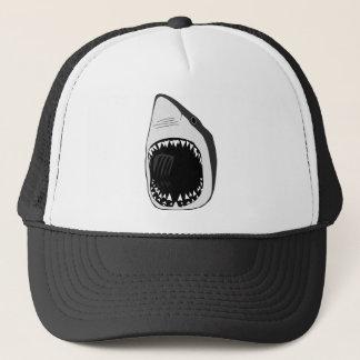animal t-shirt white shark weisser hai scuba trucker hat