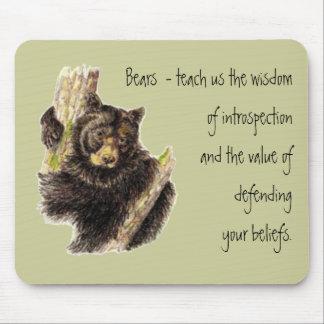 Animal Totem, Bears Nature, Spirit Guide Mouse Pad