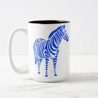 animal touch zebra Africa zoo kindermitive child Two-Tone Mug